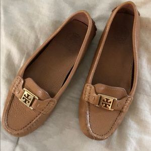 tory burch leather loafers